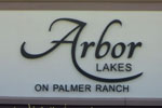 Arbor Lakes community sign